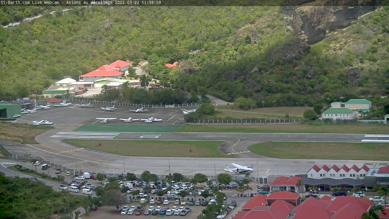 St Barth - St-Barth.com - Aéroport Gustav III - Webcam