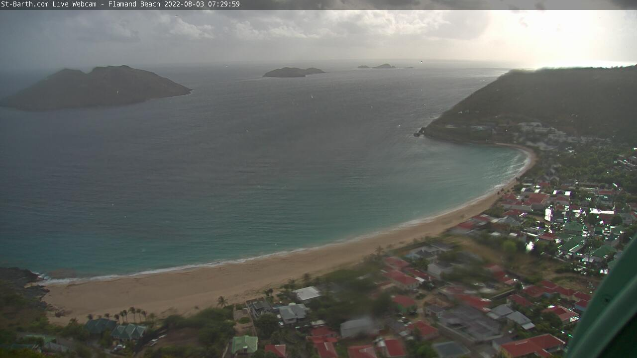 St Barth - St-Barth.com - Plage de Flamands - Webcam