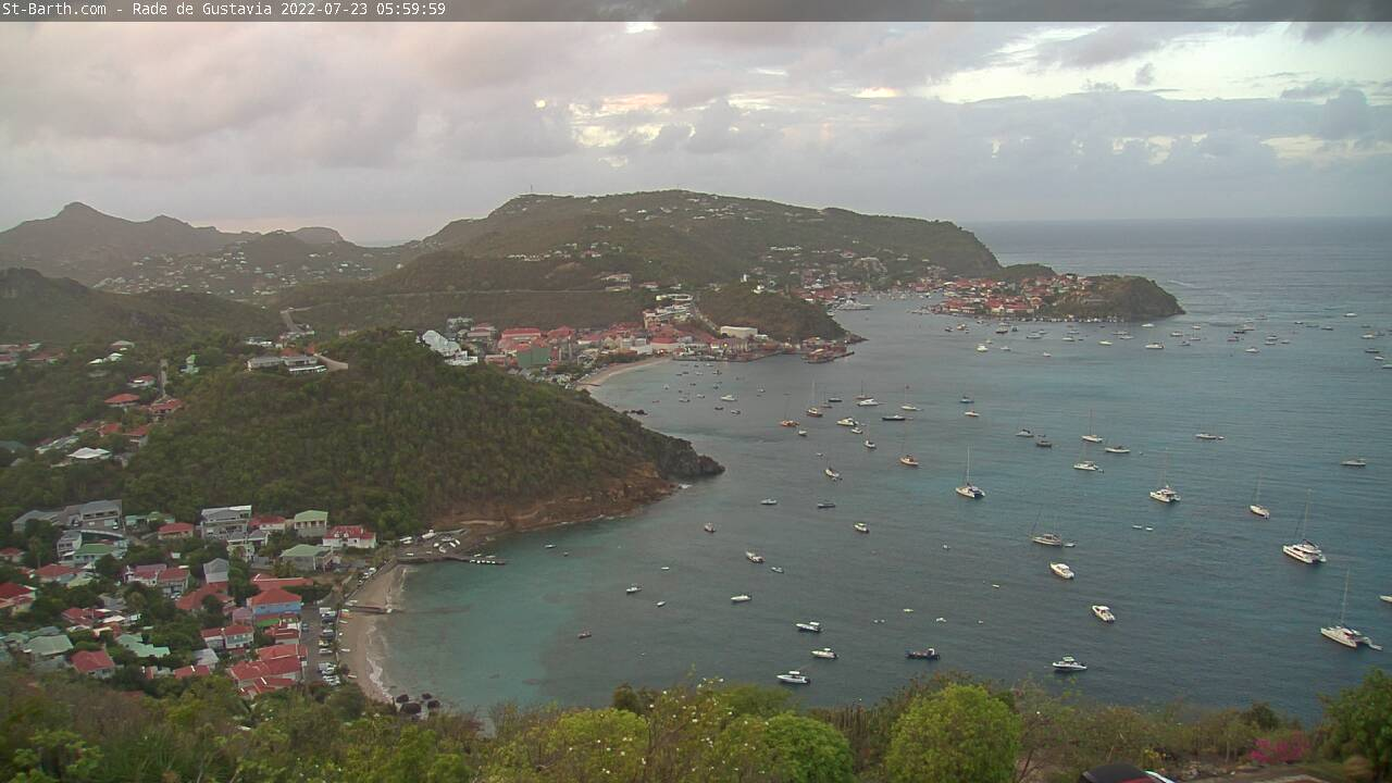 Webcam Port de Gustavia St Barthelemy